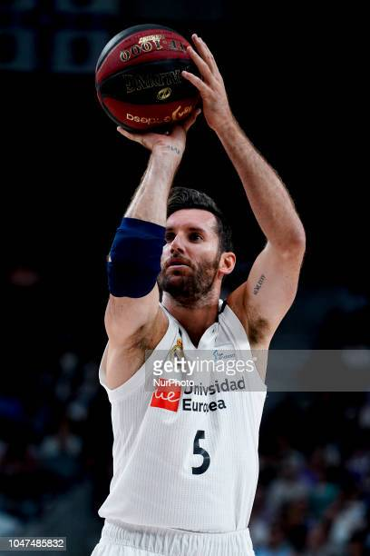 Rudy FERNANDEZ of Real Madrid in action during a Liga Endesa ACB Basketball game between Real Madrid and Unicaja at the Palacio de los Deportes in...