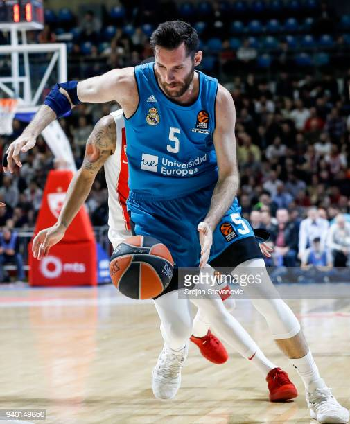 Rudy Fernandez of Real Madrid in action during the 2017/2018 Turkish Airlines EuroLeague Regular Season game between Crvena Zvezda mts Belgrade and...