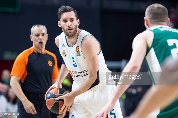 Rudy Fernandez of Real Madrid in action during the Turkish Airlines Euroleague Play Offs Game 4 between Real Madrid v Panathinaikos Superfoods Athens...
