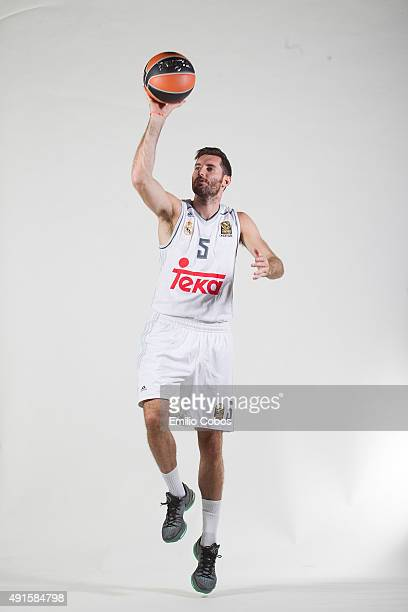 Rudy Fernandez of Real Madrid poses during the 2015/2016 Turkish Airlines Euroleague Basketball Media Day at Polideportivo Valle de Las Casas on...
