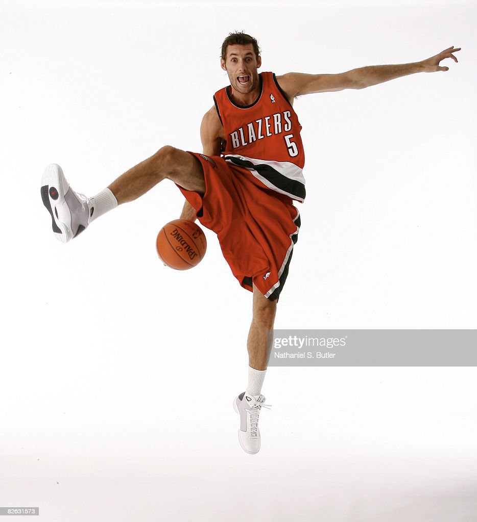 Rudy Fernandez #5 of the Portland Trail Blazers poses for a portrait during the 2008 NBA Rookie Transition Program at the Doral Arrowwood September 2, 2008 in Ryebrook, New York.