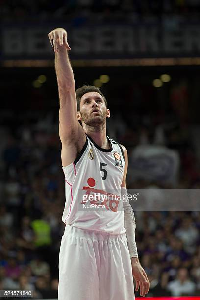 Rudy Fernandez player of Real Madrid during the Euroleague basketball Group E round 12 match Real Madrid vs Macabi Electra Tel Aviv at the Palacio de...