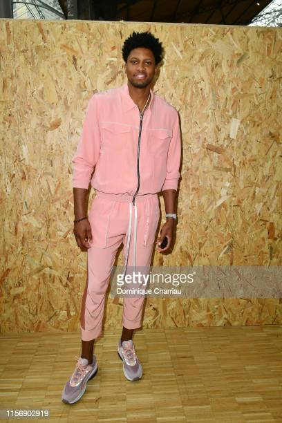 Rudy Gay attends the Off-White Menswear Spring Summer 2020 show as part of Paris Fashion Week on June 19, 2019 in Paris, France.