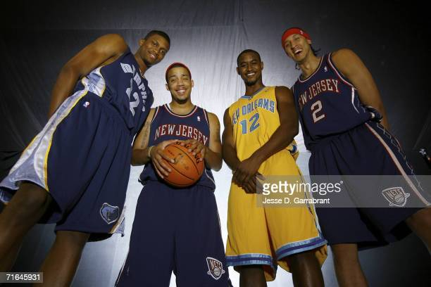Rudy Gay of the Memphis Grizzlies, Marcus Williams of the New Jersey Nets, Hilton Armstrong of the New Orleans/Oklahoma City Hornets and Josh Boone...