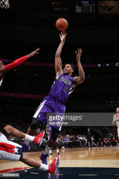 Rudy Gay of the Sacramento Kings shoots against the Washington Wizards at the Verizon Center on February 9 2014 in Washington DC NOTE TO USER User...