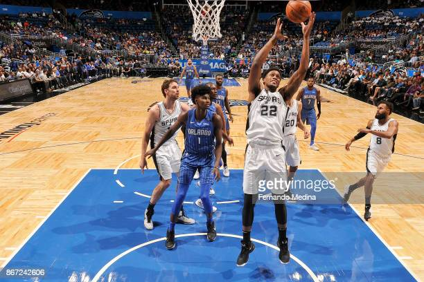 Rudy Gay of the San Antonio Spurs handles the ball against the Orlando Magic on October 27, 2017 at Amway Center in Orlando, Florida. NOTE TO USER:...