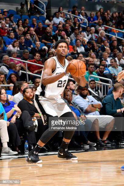Rudy Gay of the San Antonio Spurs shoots the ball against the Orlando Magic on October 27, 2017 at Amway Center in Orlando, Florida. NOTE TO USER:...