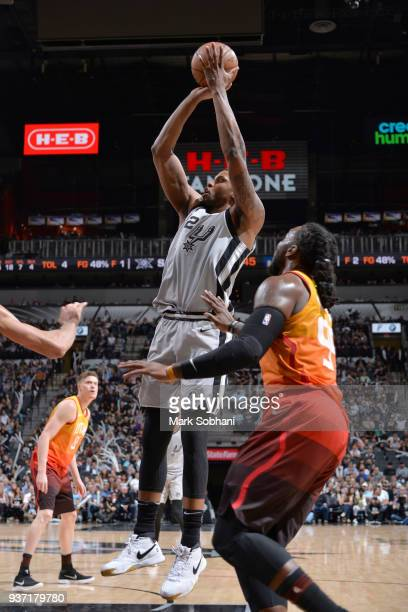 Rudy Gay of the San Antonio Spurs shoots the ball against the Utah Jazz on March 23 2018 at the ATT Center in San Antonio Texas NOTE TO USER User...