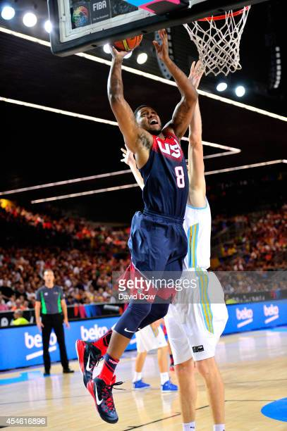 Rudy Gay of the USA Basketball Men's National Team drives to the basket against the Ukraine Basketball Team during the FIBA 2014 World Cup Tournament...