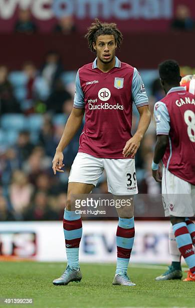Rudy Gestede of Aston Villa during the Barclays Premier League match between Aston Villa and Stoke City at Villa Park on October 3 2015 in Birmingham...
