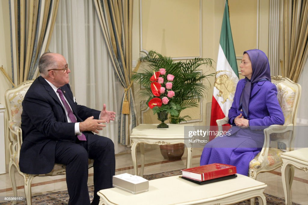 Rudy Giuliani and Maryam Rajavi meet  National Council of Resistance of Iran in Paris