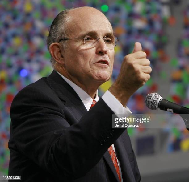 Rudy Giuliani speaks during a campaign fundraiser held at the Sheraton New York Hotel on March 14 2007 in New York City