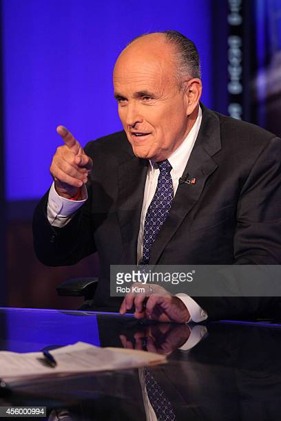 Rudy Giuliani visits 'Cavuto' On FOX Business Network at FOX Studios on September 23 2014 in New York City