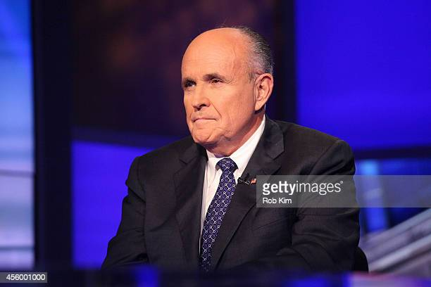 Rudy Giuliani visits Cavuto On FOX Business Network at FOX Studios on September 23 2014 in New York City