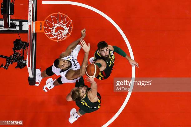 Rudy Gobert of France in action during 2nd round Group L match between France and Lithuania of 2019 FIBA World Cup at Nanjing Youth Olympic Sports...
