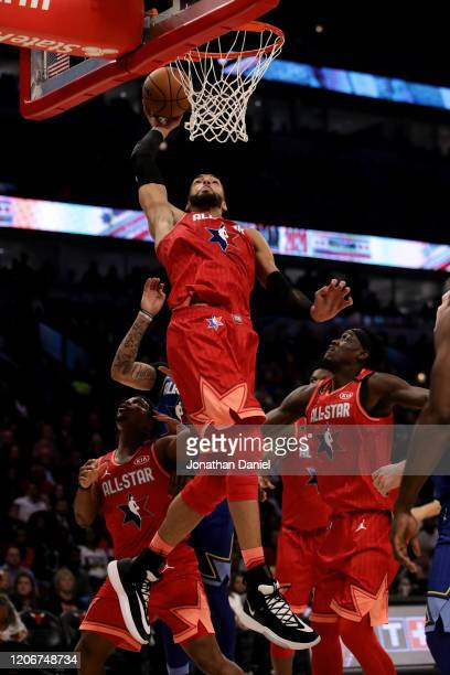 Rudy Gobert of Team Giannis dunks the ball in the second quarter against Team LeBron during the 69th NBA AllStar Game at the United Center on...