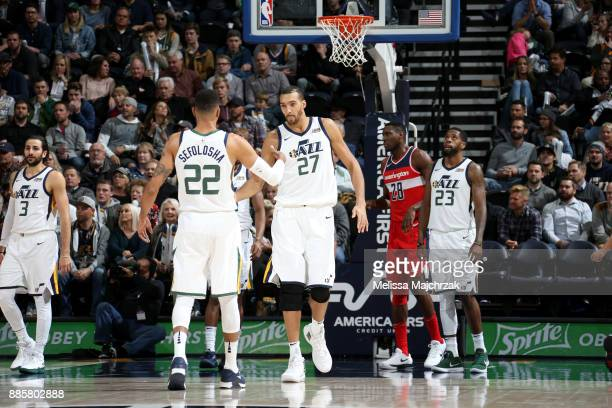 Rudy Gobert of the Utah Jazz during the game against the Washington Wizards on December 4 2017 at Vivint Smart Home Arena in Salt Lake City Utah NOTE...