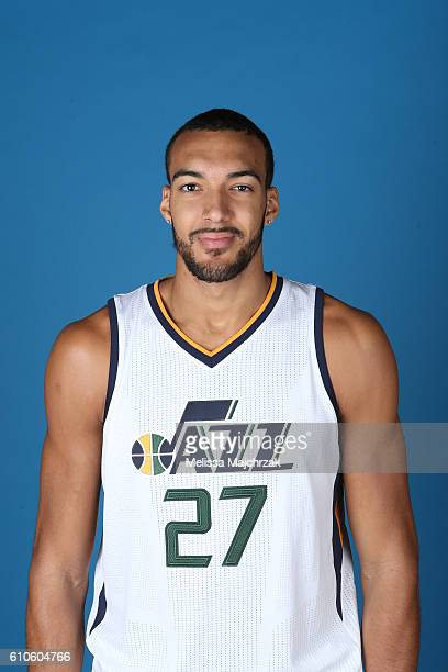 Rudy Gobert of the Utah Jazz poses for a headshot during 20162017 Utah Jazz Media Day at Zions Bank Basketball Center on September 26 2016 in Salt...