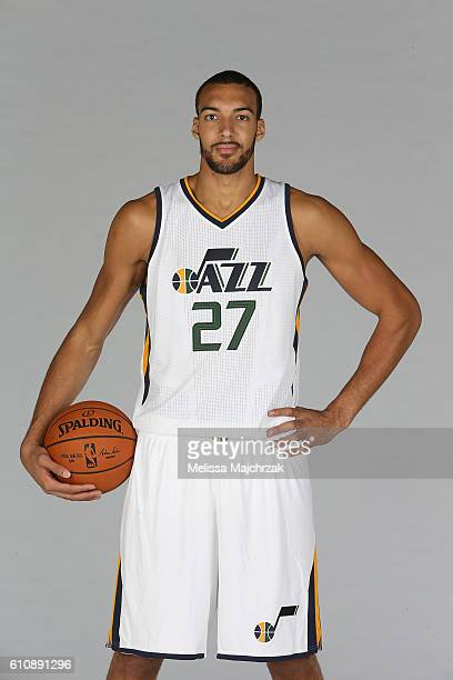 Rudy Gobert of the Utah Jazz poses for a photo during the 20162017 Utah Jazz media day at Zions Bank Basketball Center on September 26 2016 in Salt...