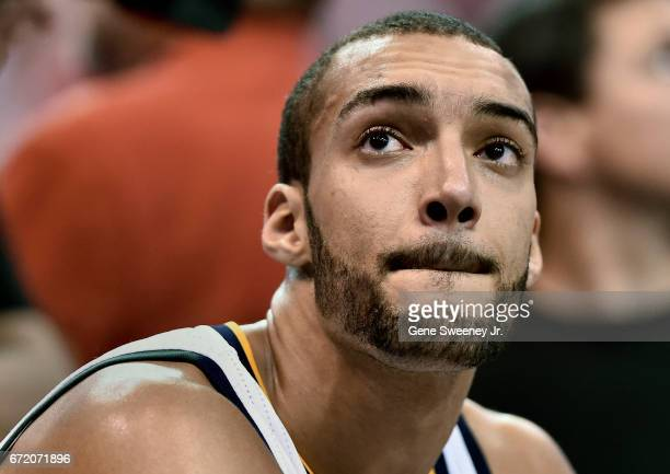 Rudy Gobert of the Utah Jazz who was hurt in game one returned to action against the Los Angeles Clippers in Game Four of the Western Conference...