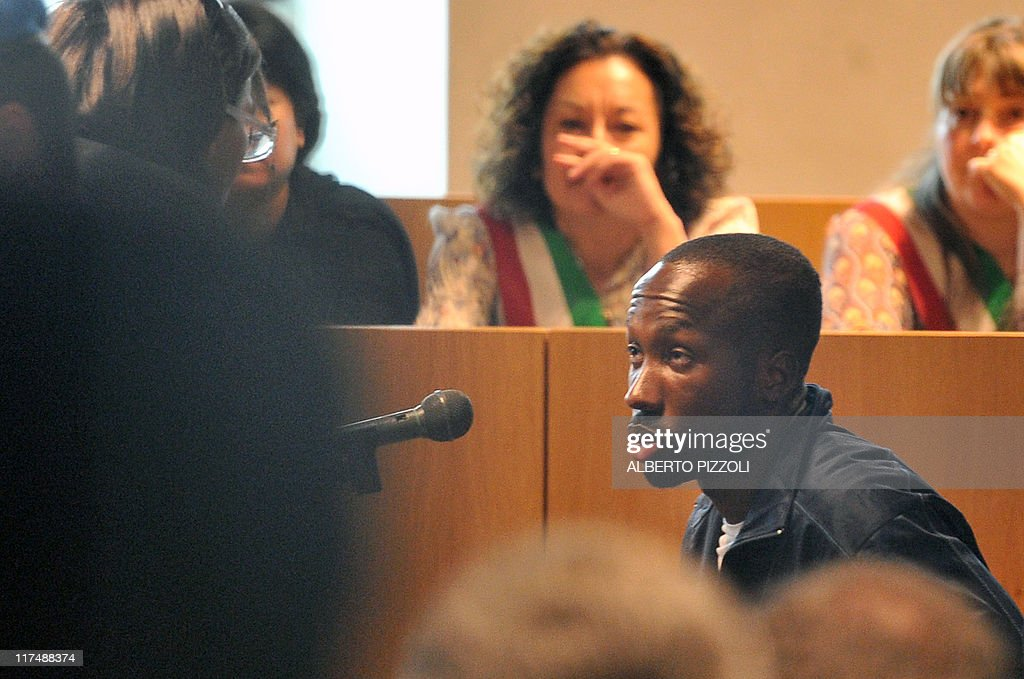 Rudy Guede, convicted of killing a Briti : News Photo