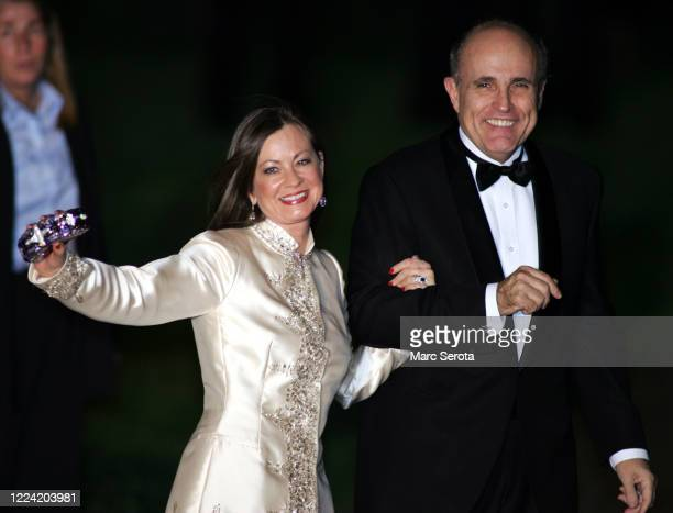 Rudy Guilianni arrives at BethesdabytheSea Episcopal Church for the wedding of Donald Trump to Slovenian model Melanai Knauss in Palm Beach Florida...