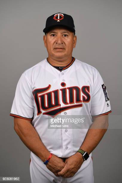 Rudy Hernandez of the Minnesota Twins poses during Photo Day on Wednesday February 21 2018 at CenturyLink Sports Complex in Fort Myers Florida