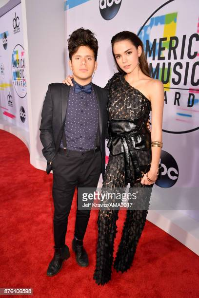 Rudy Mancuso Maia Mitchell attends the 2017 American Music Awards at Microsoft Theater on November 19 2017 in Los Angeles California