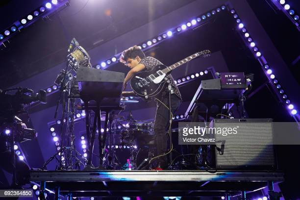 Rudy Mancuso performs on stage during the MTV MIAW Awards 2017 at Palacio de Los Deportes on June 3 2017 in Mexico City Mexico