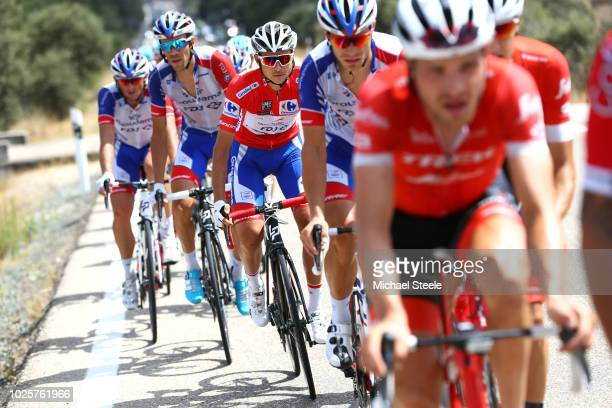 Rudy Molard of France and Team Groupama FDJ Red Leaders Jersey / Thibaut Pinot of France and Team Groupama FDJ / during the 73rd Tour of Spain 2018 /...
