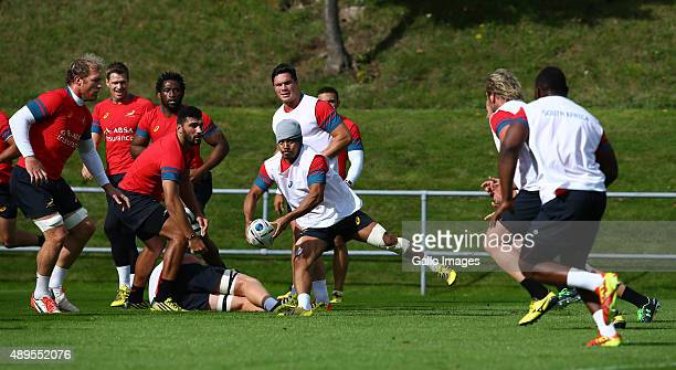 Rudy Paige during the South African national rugby team training session at University of Birmingham on September 22 2015 in Birmingham England