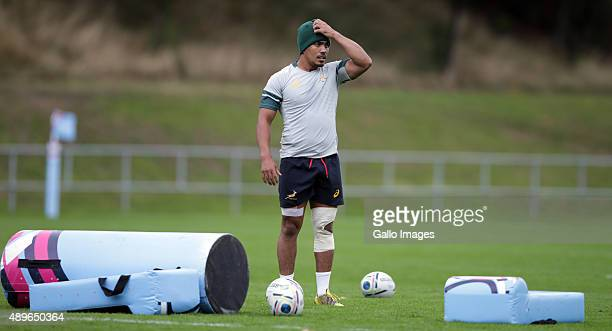 Rudy Paige during the South African national rugby team training session at University of Birmingham on September 23 2015 in Birmingham England