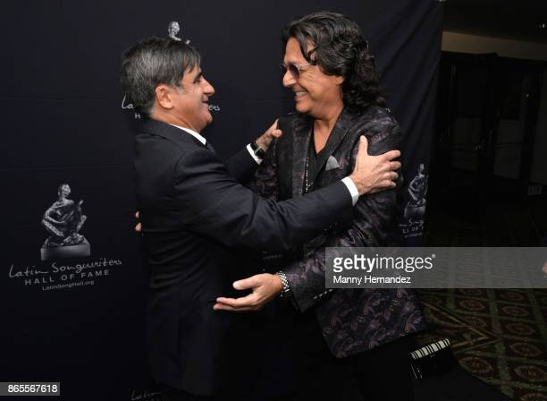Rudy Perez and Afo Verde at the 5th Annual Latin Songwriters Hall Of Fame's La Musa Award at James L Knight Center on October 19 2017 in Miami Florida