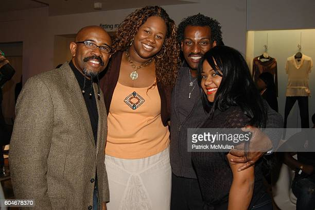 Rudy Rasmus Tanisha Broadwater Barry Barnes and Angela Beyince attend Shopping Party hosted by HOUSE OF DEREON at Macy's on State Street on September...