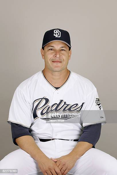 Rudy Seanez of the San Diego Padres poses for a portrait during photo day at Peoria Stadium on February 26 2005 in Peoria Arizona