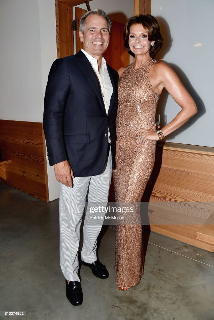 Rudy Touzet and Lydia Touzet attend the Midsummer Party 2017 at Parrish Art Museum on July 15, 2017 in Water Mill, New York.