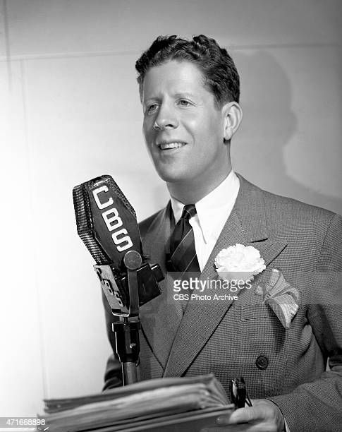 Rudy Vallée as a performer on CBS Radio. Vallée was an American singer, actor, bandleader, and entertainer popular in the 1930s and 1940s, known as...