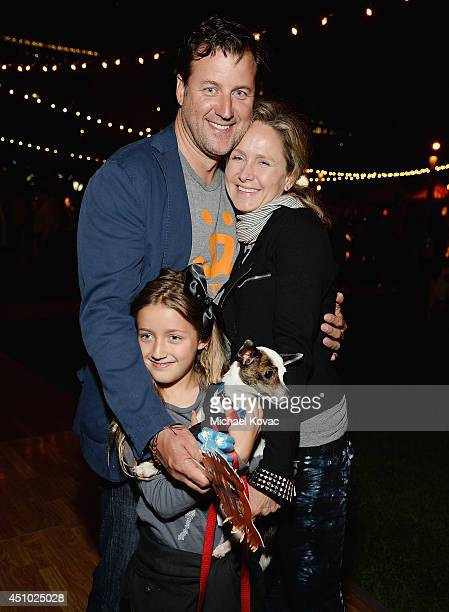 Rudy van Zyl and Jennifer Parker enjoy the 'More Than a Cone' art auction and campaign launch benefiting Best Friends Animal Society in Los Angeles...