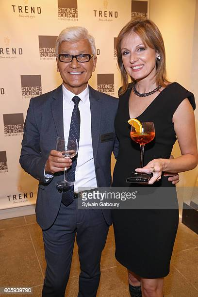 Rudy Yanes and Rafaella Salata attend Tarek and Christina TV's Favorite House Flippers Featured at TREND/Stone Source Event in New York on September...