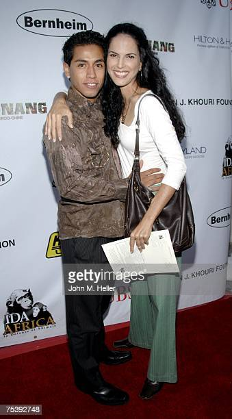 Rudy Youngblood and Mariana Tosca attend In Defense of AnimalsAfrica Presents Born To Be Wild at the Bernheim Estate on July 12 2007 in Beverly Hills...