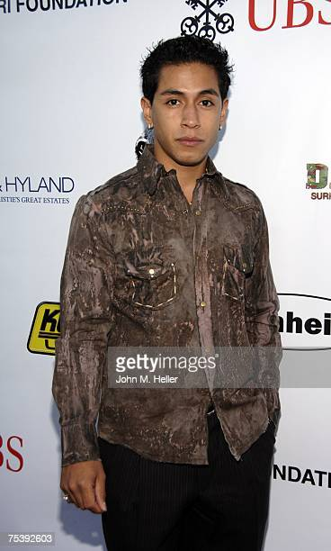 Rudy Youngblood attends In Defense of AnimalsAfrica Presents Born To Be Wild at the Bernheim Estate on July 12 2007 in Beverly Hills California