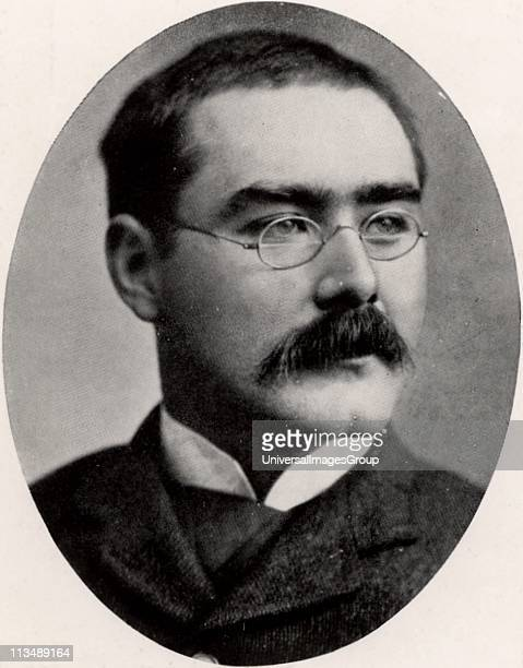 Rudyard Kipling English journalist, novelist and poet, born in India. Halftone after a photograph.