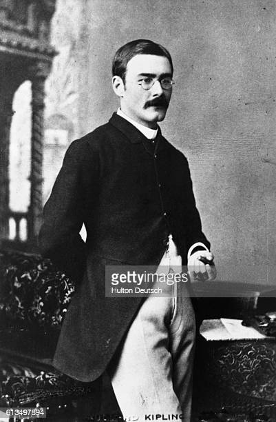 Rudyard Kipling the English novelist and poet. He won the Nobel prize for literature in 1907.