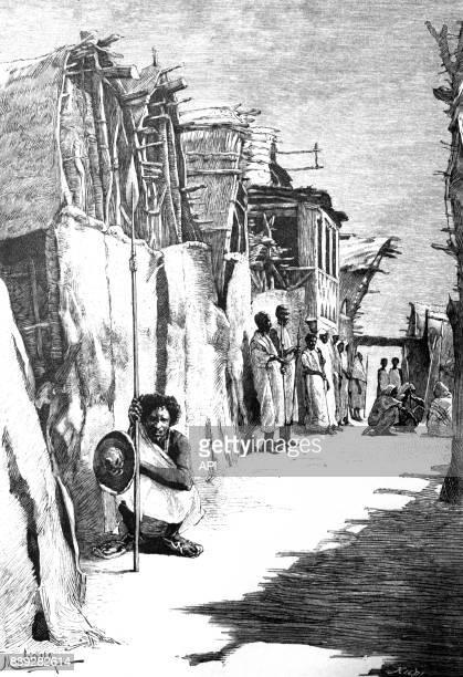 Rue de Berbera en Somalie en 1903