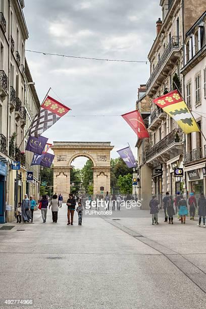 rue de la liberte in dijon - france - pjphoto69 stock pictures, royalty-free photos & images