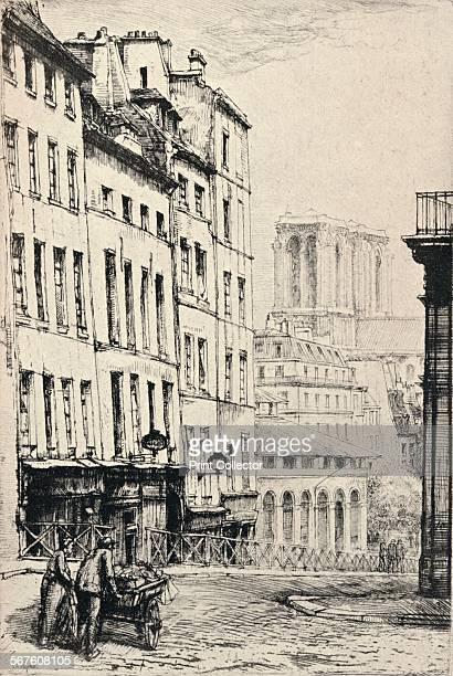 'Rue de la MontagneSte Genevieve' 1915 From Paris Past and Present [London Offices of the Studio London 1915]