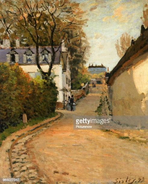 Rue de la Princesse Louveciennes Looking North Sisley Alfred