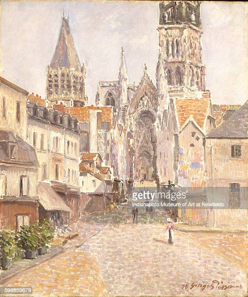 Rue de L'Epicerie Rouen by French artist George ManzanaPissarro 1898 The Holliday Collection