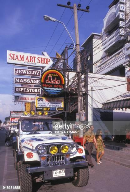 Rue de Pattaya en 1988 Thaïlande