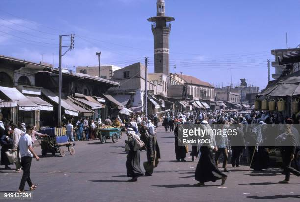 Rue du centre d'Alep, Syrie.